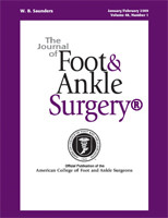 COVER - Journal of Foot & Ankle Surgery NEW