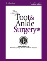 Journal of Foot & Ankle Surgery Cover page