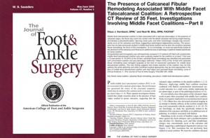 Tarsal Coalition and Caneofibular Remodeling